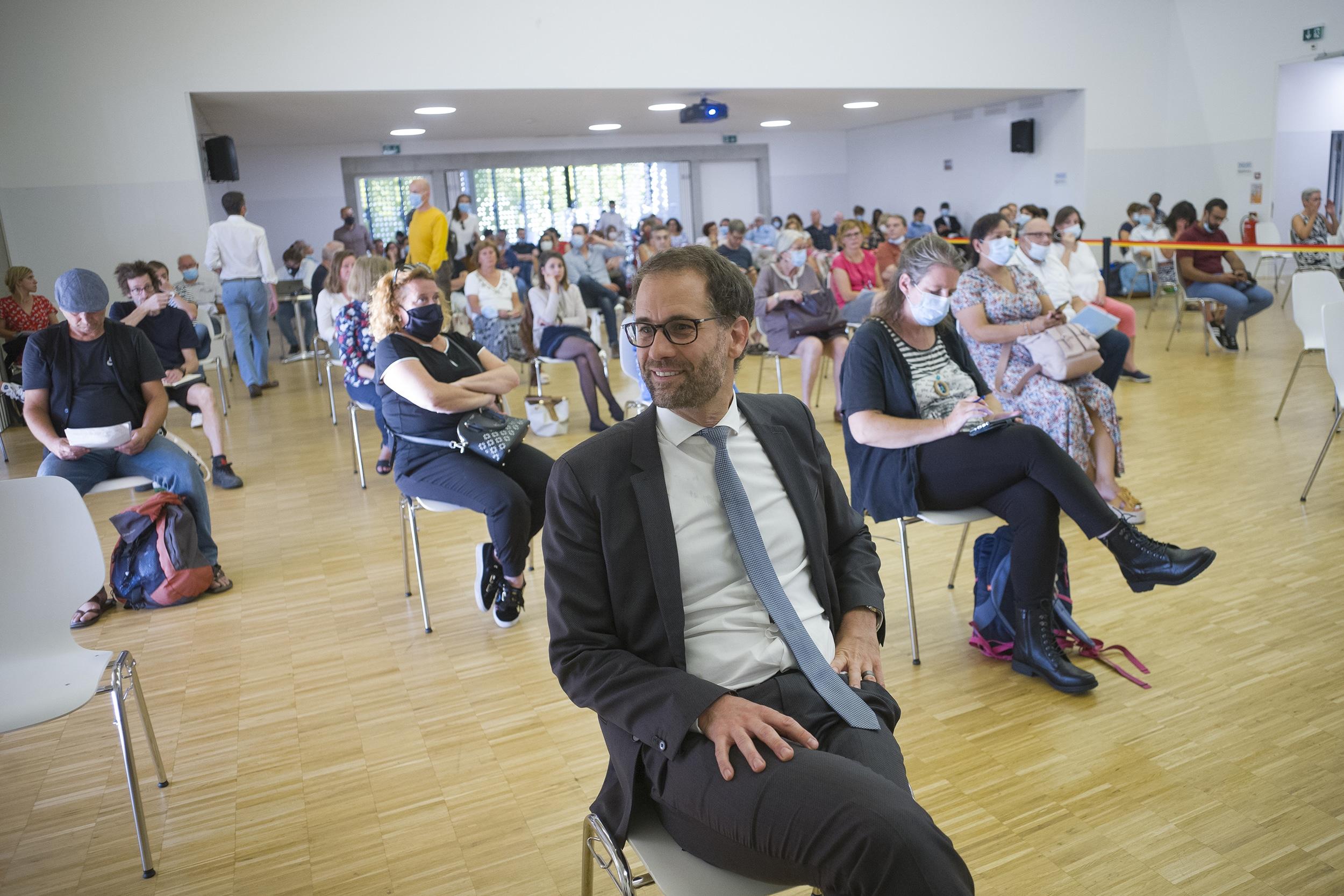 Antonio Hodgers lors du tirage au sort du Forum Citoyen, le 15.09.2020
