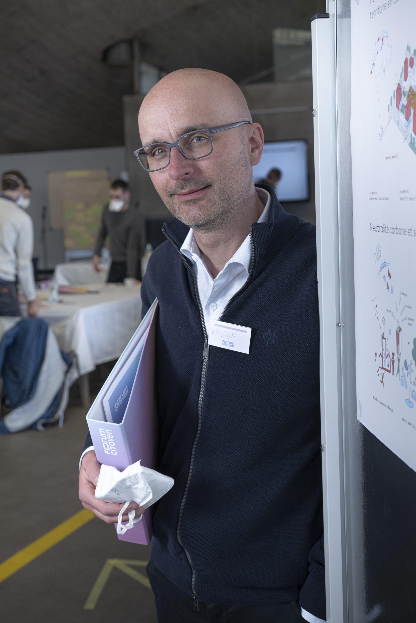 Nenad Stojanović, facilitateur au Forum Citoyen, Professeur FNS de science politique